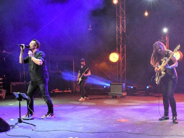 David Hallyday au Kiss FM Live de Golfe-Juan - ©Gérald