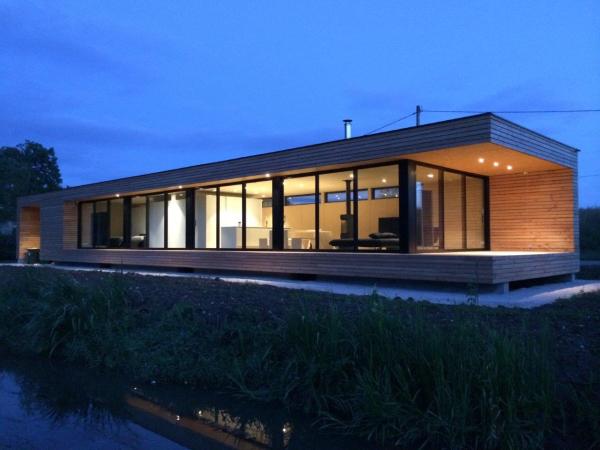 Mo2b maison en bois longvic 21600 - Plan maison bois contemporaine ...