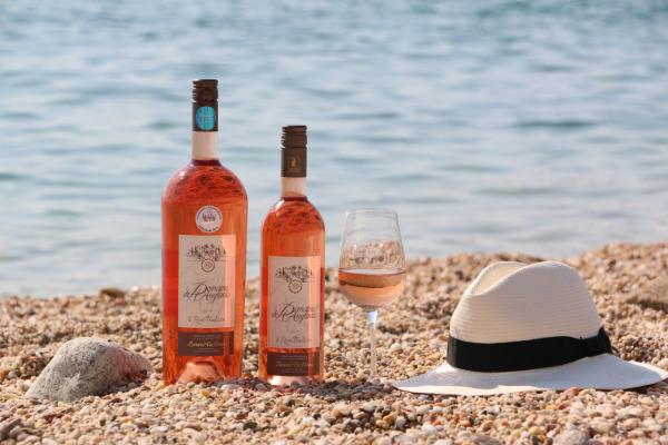rosé à la plage