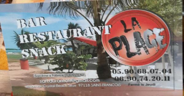 LA PLAGE Restaurants Saint-François photo n° 178836
